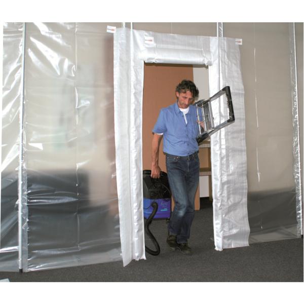Staubschutztür RVT-H Profi-Set mit Aluminium-Teleskopstangen