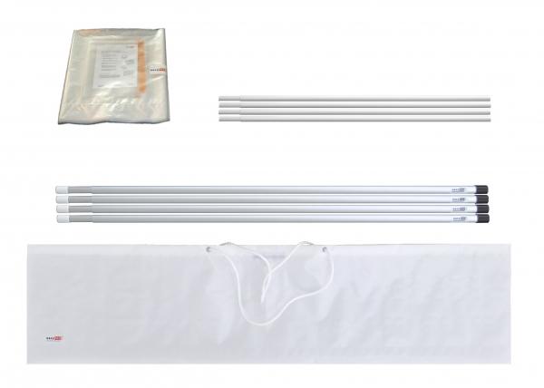 Staubschutzwand Set easyWALL 4,0 x 3,7 m mit Vorhangtür