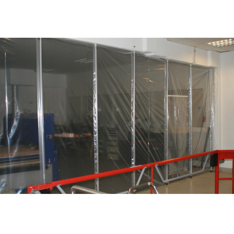 Staubschutzwand SetRenovierung H/öhe 2,90 m x Breite 5,00 m mit selbstklebenden Rei/ßverschl/üssen