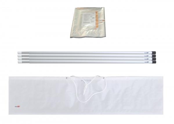Staubschutzwand solidWALL Set 4,0 x 2,7 m Vorhangtür
