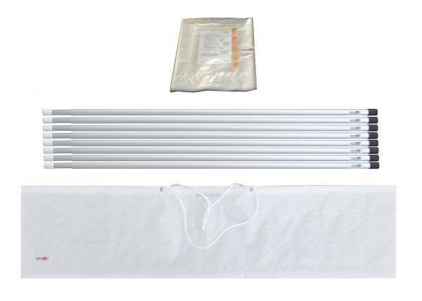 Staubschutzwand Set 8,0 x 2,7 m Vorhangtür
