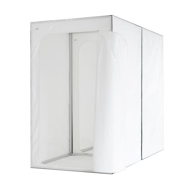 Verbindungswand mit Reißverschlusstür für Ein-Kammer-Schleusen